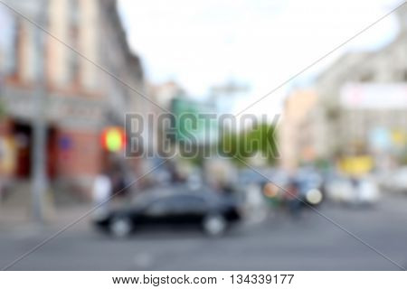 Blurred city background
