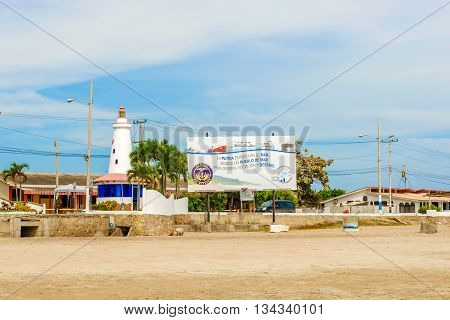Lighthouse In Salinas, Ecuador