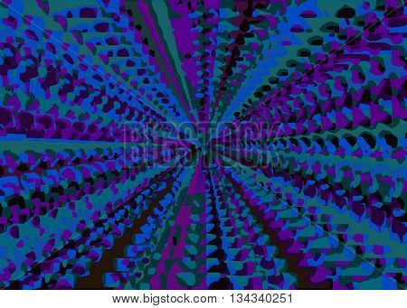 purple blue and green painting abstract background