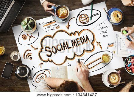Social Media Internet Network Technology Concept