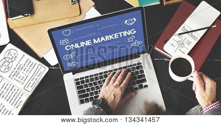 Online Marketing Advertisement Promotion Advertising Concept