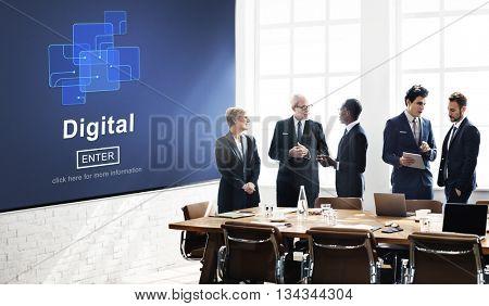 Digital Online Internet Technology Information Concept
