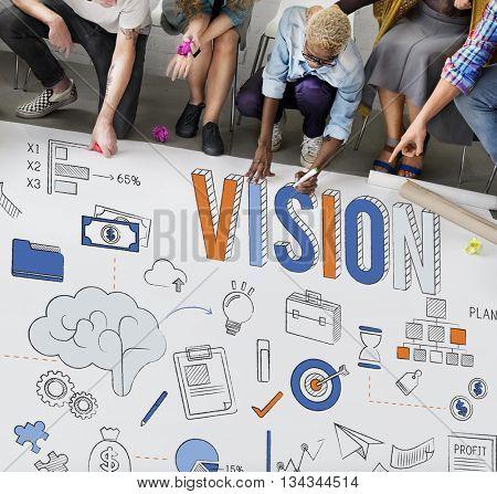 Vision Motivation Ideas Strategy Concept