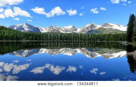 Bierstadt Lake Reflection in the Colorado Mountains