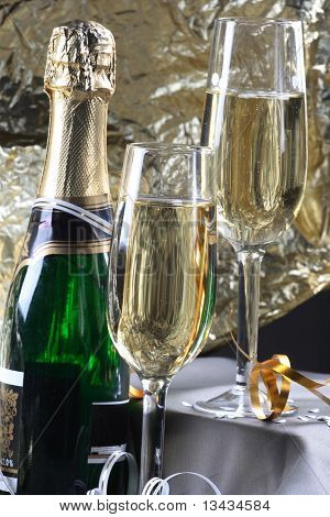 glass ready for celebrating