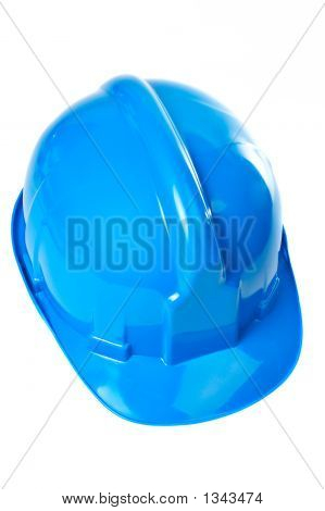 Plastic Blue Hard Hat