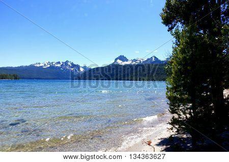 Idaho's beautiful Redfish Lake and Sawtooth Mountains.
