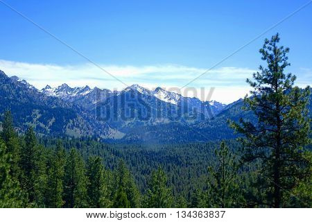 Idaho's Sawtooth Mountains are seen from the Grand Jean area.