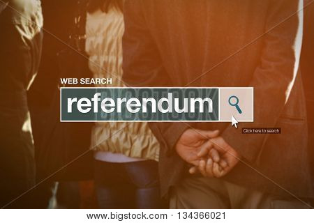 Referendum web search bar glossary term in internet glossary.