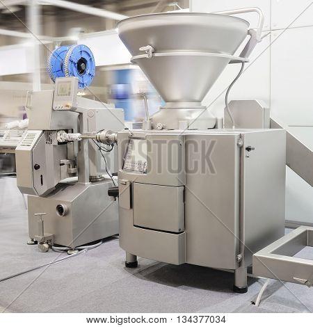 Industrial dough mixer in bakery