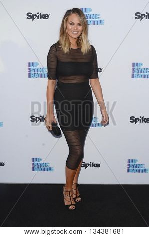 LOS ANGELES - JUN 14:  Christine Teigen at the Lip Sync Battle FYC Event at the Saban Media Center on June 14, 2016 in North Hollywood, CA