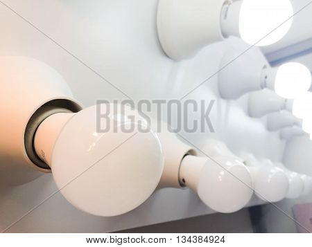 Some LED bulbs - New technology of lighting and saving technology