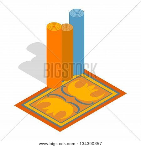 Turkish carpets icon in isometric 3d style on a white background