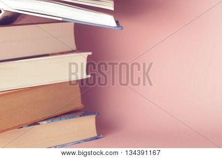 Vintage Old Books Onon  Light Background
