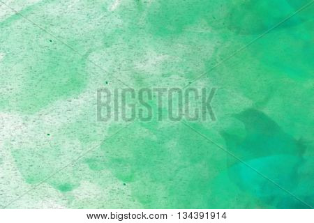 Abstract Colourful Watercolour Background In Shades Of Blue And Green