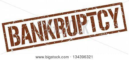 Bankruptcy Stamp. Vector. Stamp. Sign. Bankruptcy. Brown.