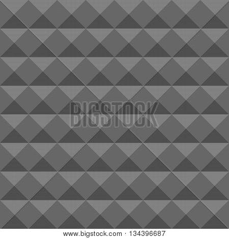 Acoustic foam wall, soundproofing. Seamless geometric vector pattern. Vector Pyramid texture