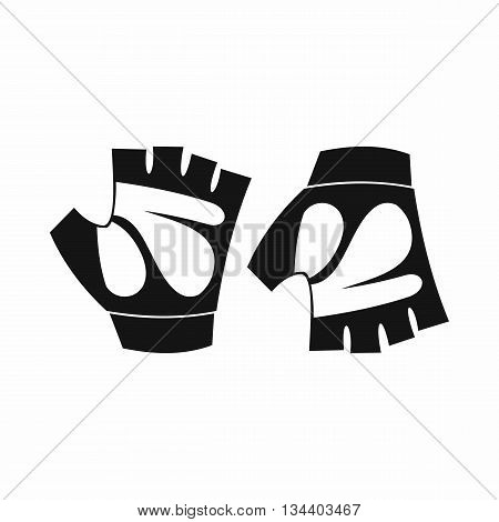 Cycling gloves icon in simple style isolated on white background