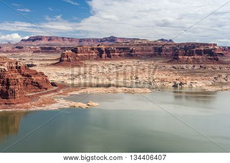 Hite Marina and Colorado River in Glen Canyon National Recreation Area poster
