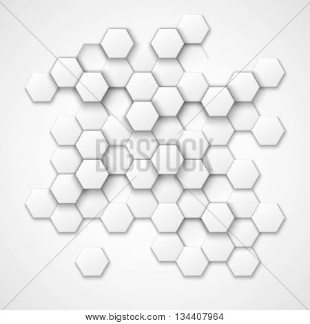 Abstract hexagonal vector background. Hexagon shape, geometric hexagonal  pattern, texture hexagonal, decoration hexagonal illustration