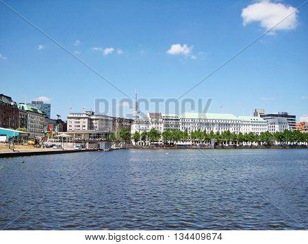 Hamburg, Binnenalster And Neuer Jungfernstieg