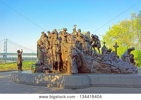 Memorial To Irish Famine At Penns Landing In Philadelphia