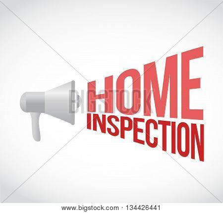 Home Inspection Megaphone Message