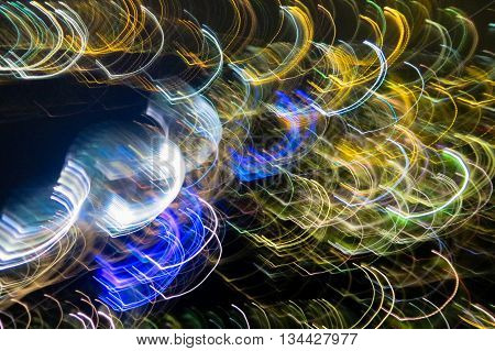 Abstract light trail background showing movement and speed