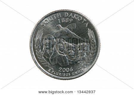 Isolated South Dakota Quarter