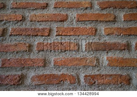 Acient brick wall. Background of old vintage brick wall