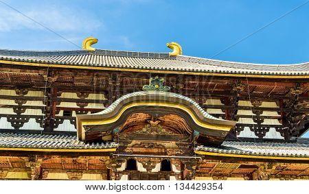 Great Buddha Hall of Todai-ji temple in Nara, Japan
