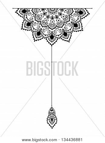 Mandala set and other elements. Vector. Mandala tattoo. Perfect cards of design, birthday and other holiday, kaleidoscope, medallion, yoga, india, Arabic. circular pattern sketch for tattoo