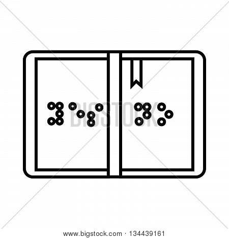 Braille icon in outline style isolated on white background