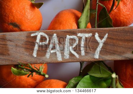 word party on  a  abstract colorful background