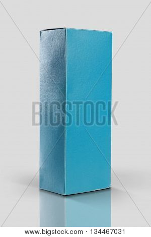 Blue Product Packaging Box for Mockups Stock Photo