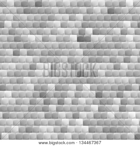 Heterogeneous corrugated surface. Seamless pattern shadows gray background