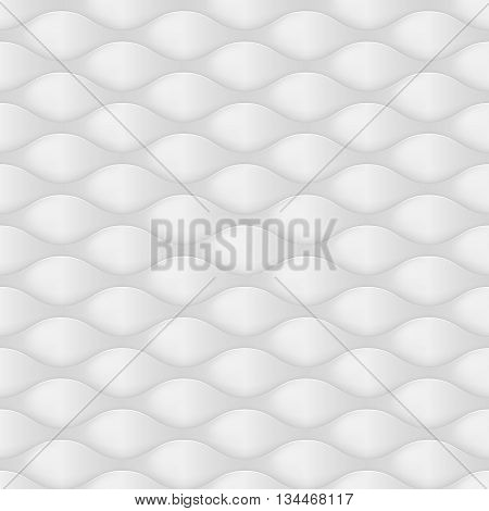 Embossed Texture Wave. Seamless Pattern in Dark Gray Color