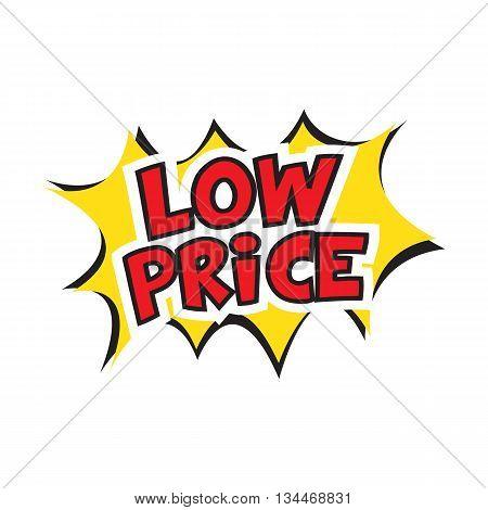 low price banner design. Vector illustration. Cartoon.