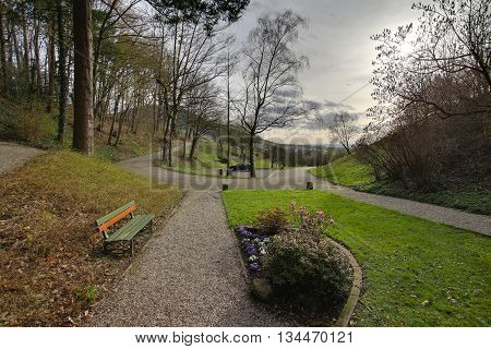 Hdr Image Of Outlook Near Neuweier, Baden-wurttemberg, Germany