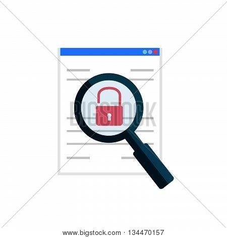 Vulnerability Search Icon. Vector Illustration