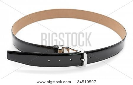 Patent Leather Belt Isolated