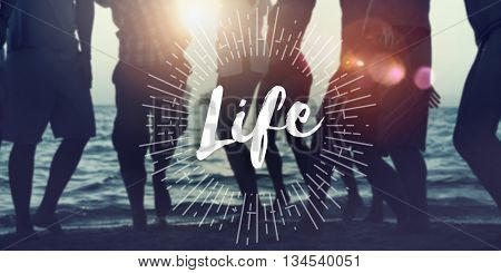Live Your Life the Way Forward Motivation Aspirations Concept