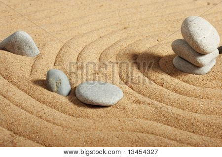 Garden of stones, zen-like, tranquil, spa images