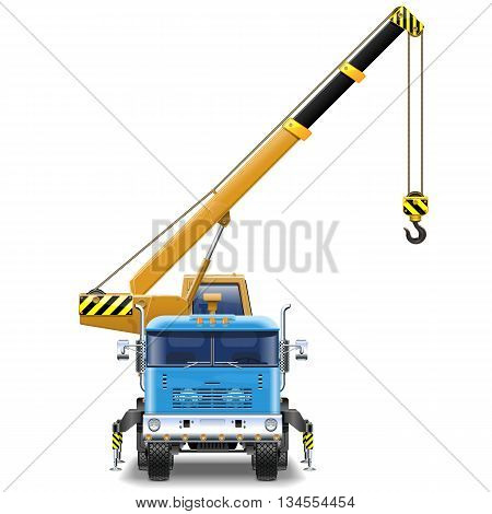 Vector Truck Crane isolated on white background