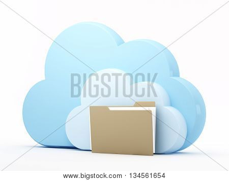 Data storage with cloud computing technology. 3d rendering.