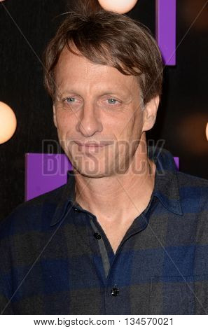 LOS ANGELES - JUN 14:  Tony Hawk at the The Neon Demon Premiere at the Cinerama Dome on June 14, 2016 in Los Angeles, CA