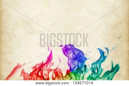 Faerie Fire. Multi-colored smoke.