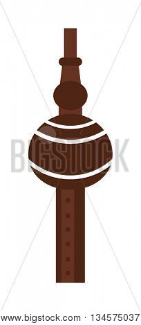 Tribal wooden flute pipe music sound wind art melody blow woodwind traditional equipment vector.