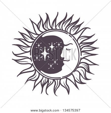 Moon design vector illustration.
