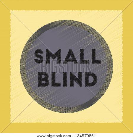 flat shading style icon poker small blind